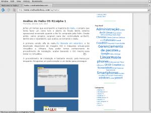 WebPositive's menubar